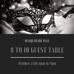 Masquerade Ball 8 to 10 Guest Table